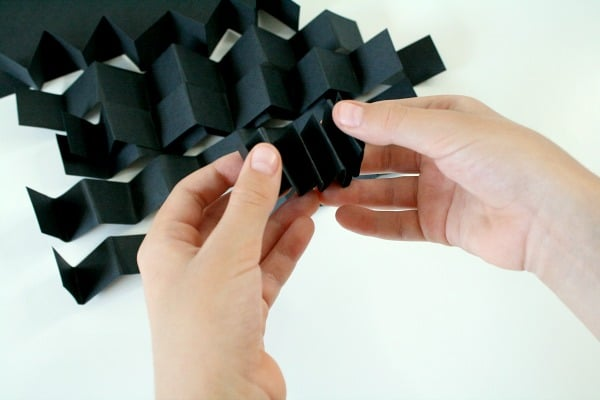 Accordian Fold for Spider Craft