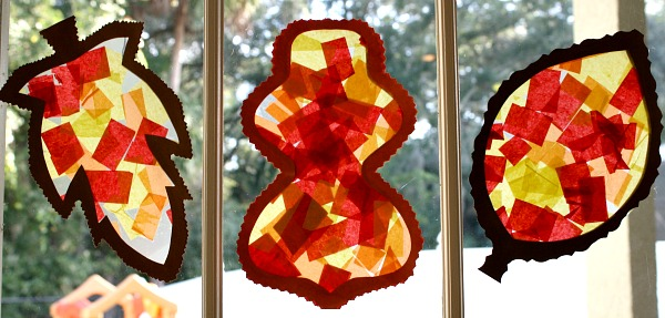 Fall Leaf Suncatcher