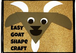 G is for Goat: Shapes Craft
