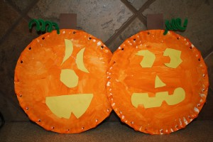 Pumpkin craft for preschoolers