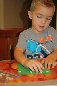 Pumpkin alphabet activity for preschool
