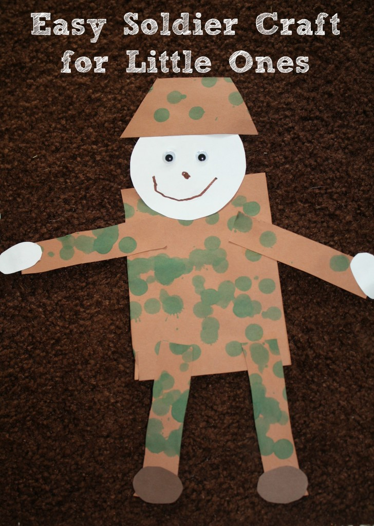 Memorial Day Easy Worksheets : Soldier craft