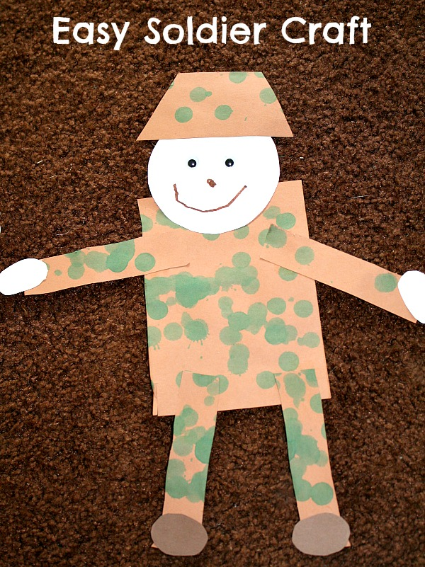 soldier craft On veterans day crafts for preschoolers