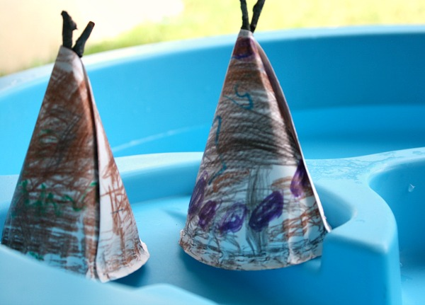 Tepee Preschool Craft