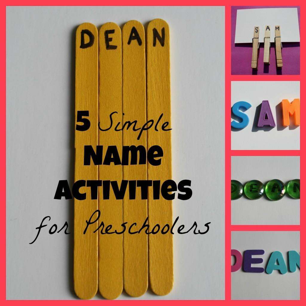 5 Simple Name Activities for Preschoolers
