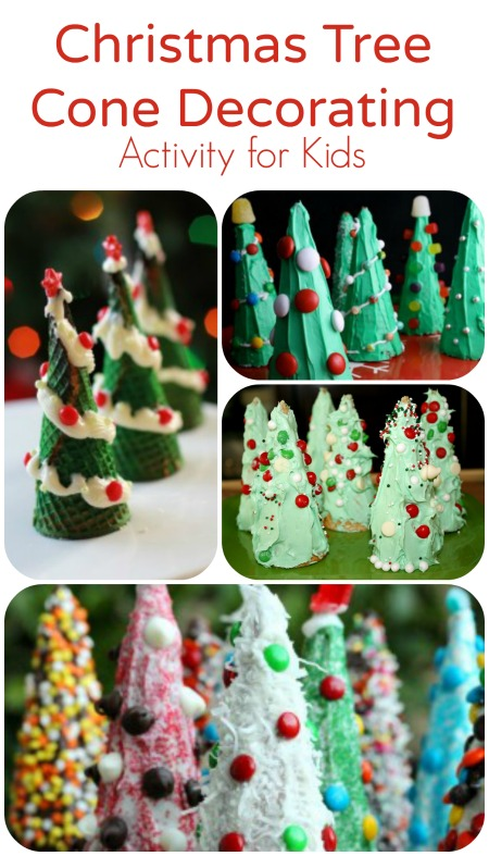 christmas activity for kidschristmas tree cone decorating - Green Day Christmas