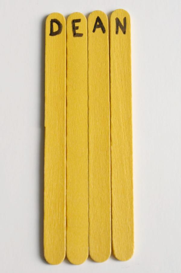 Craft Stick Name Activity