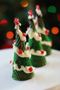 cupcake filled christmas tree cones from tasty kitchen ice cream