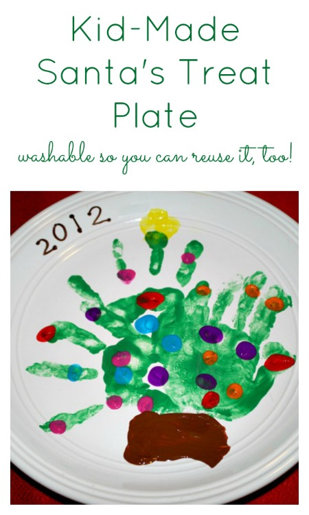 Kid-Made Santa's Treat Plate...make it washable so you can reuse the plate every year