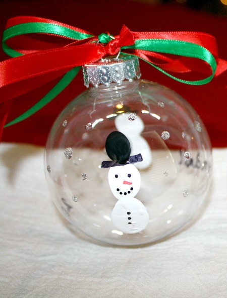 DIY Snowman Christmas Ornaments-Advent Day 2