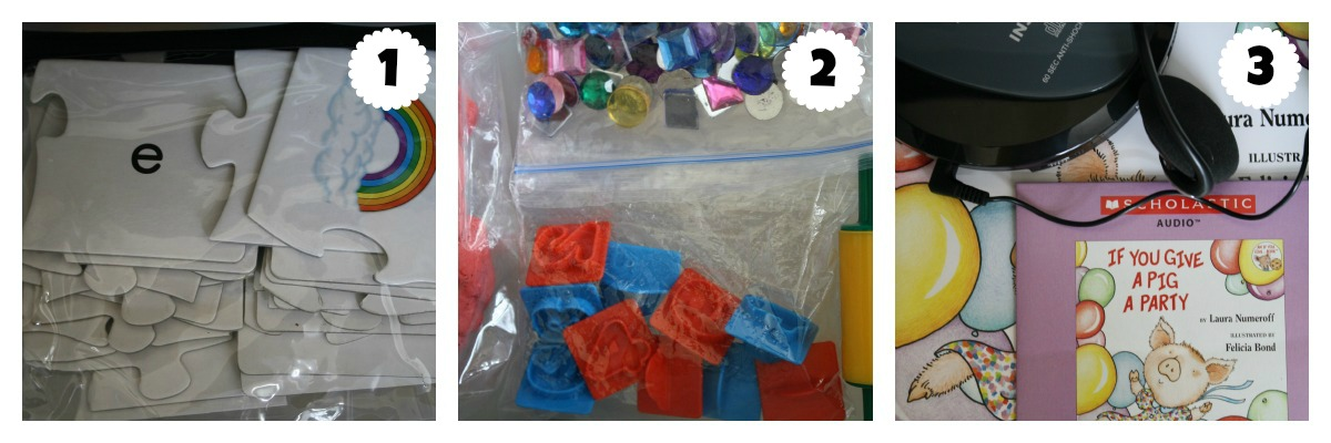 Day 3 Preschool Workboxes
