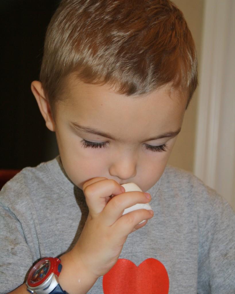 Exploring marshmallows with five senses