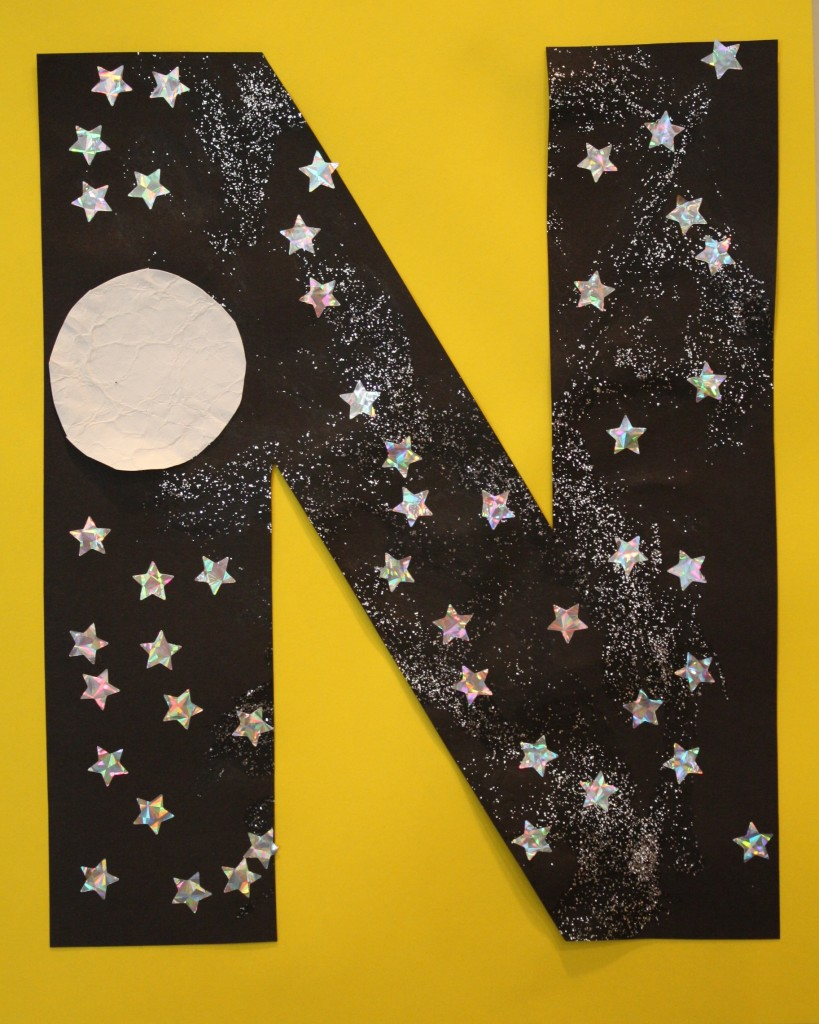 N N is for Night Sky Let...
