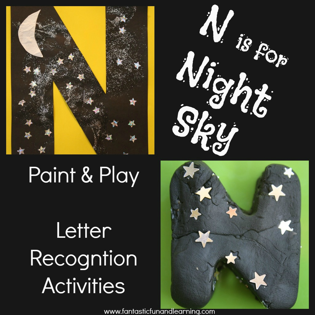 N is for Night Sky Letter Recognition Activities
