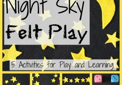 Night Sky Felt Play and Math Games