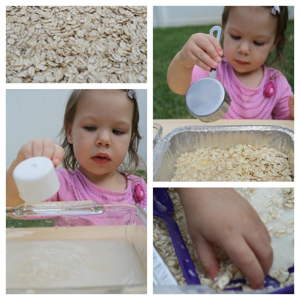 Oatmeal Sensory Play