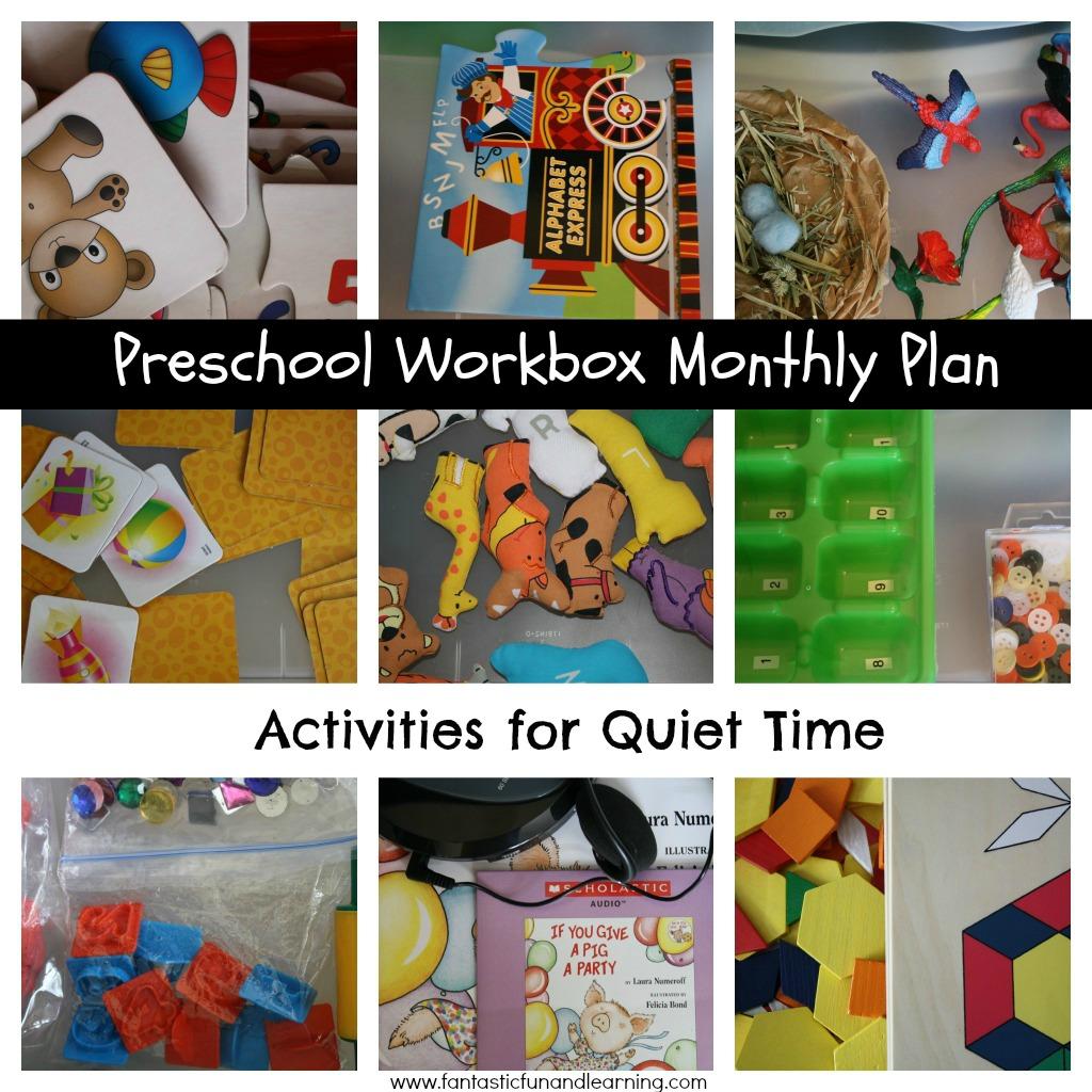 Quiet Times Activities-January Plan