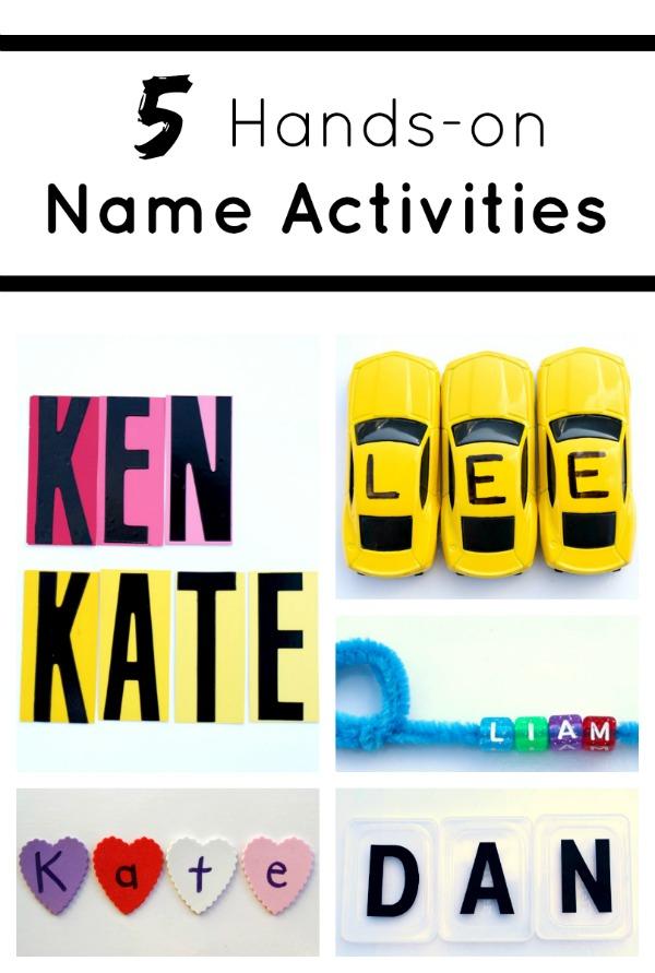 5 Hands-On Name Activities for Preschoolers