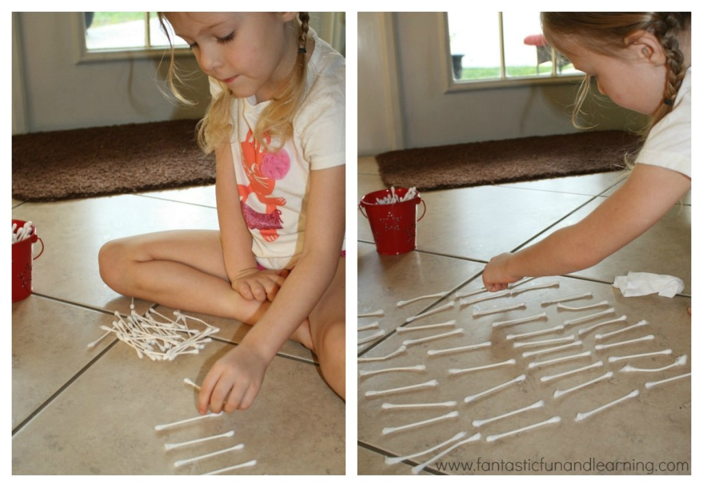 Counting Q-Tips Fine Motor Activity