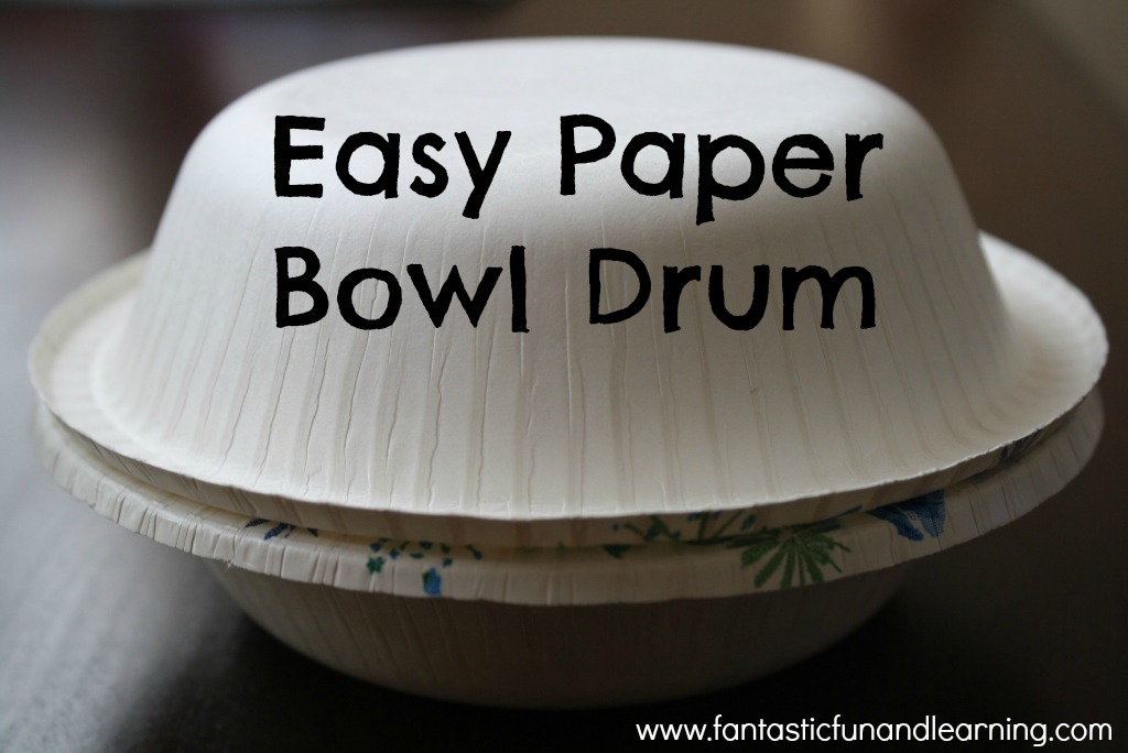 Easy Paper Bowl Drum
