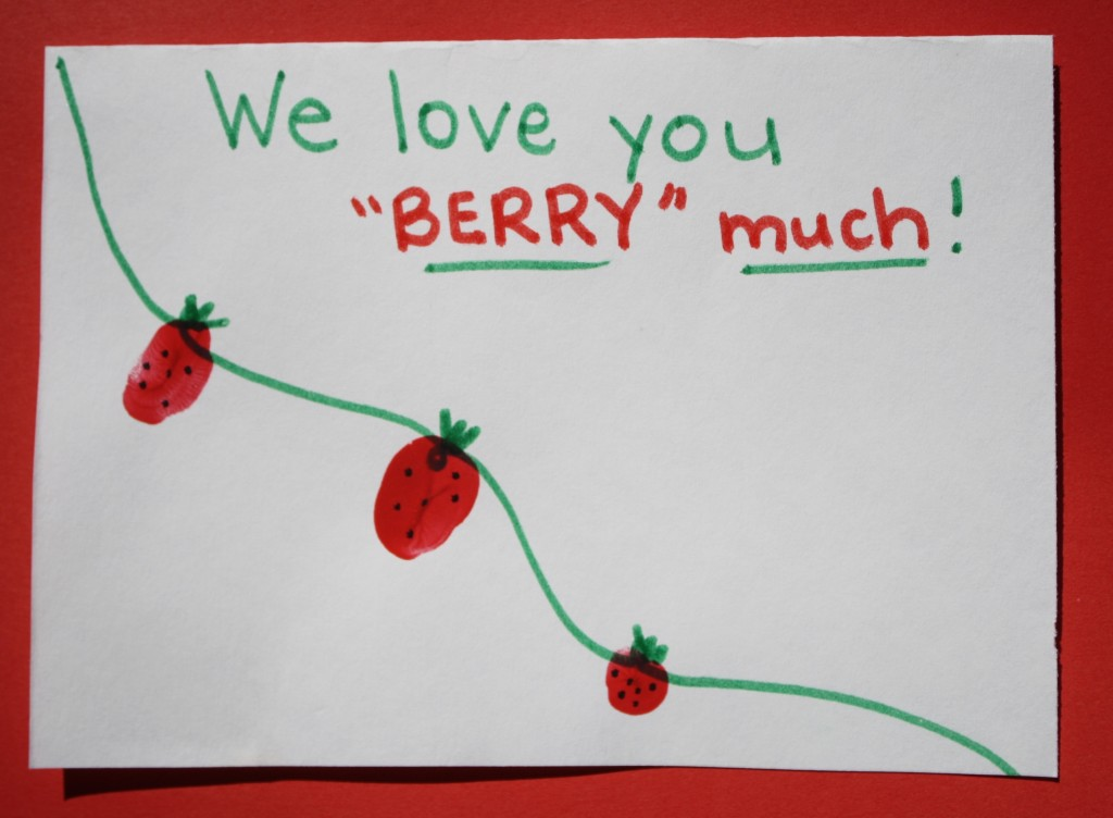Berry Sweet Kid-Made Valentines {Fantastic Fun and Learning}