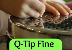 Fine Motor Activity with Q-Tips