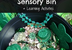 St. Patrick's Day Sensory Bin and Activities