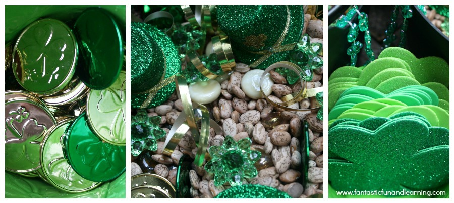 St. Patrick's Day Sensory Bin Materials
