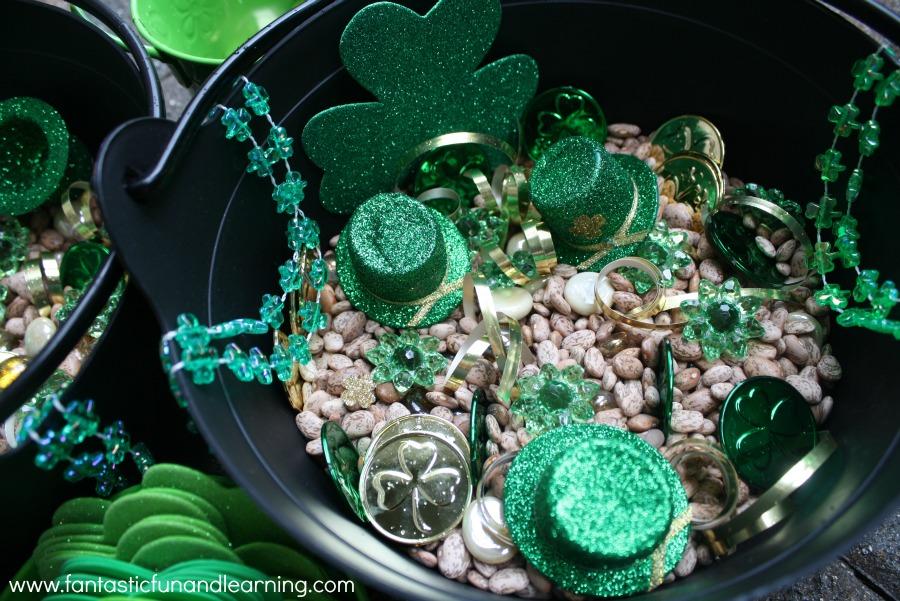 St. Patrick's Day Sensory Bin2