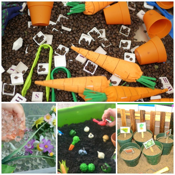 Garden Theme Sensory Bins for Preschool