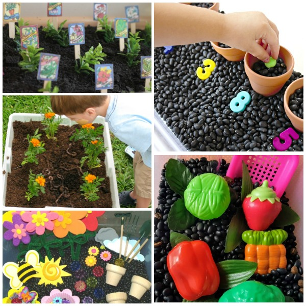 Gardening Sensory Bins for Preschoolers-Spring Sensory Play and Science