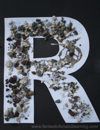 r is for rocks letter craft