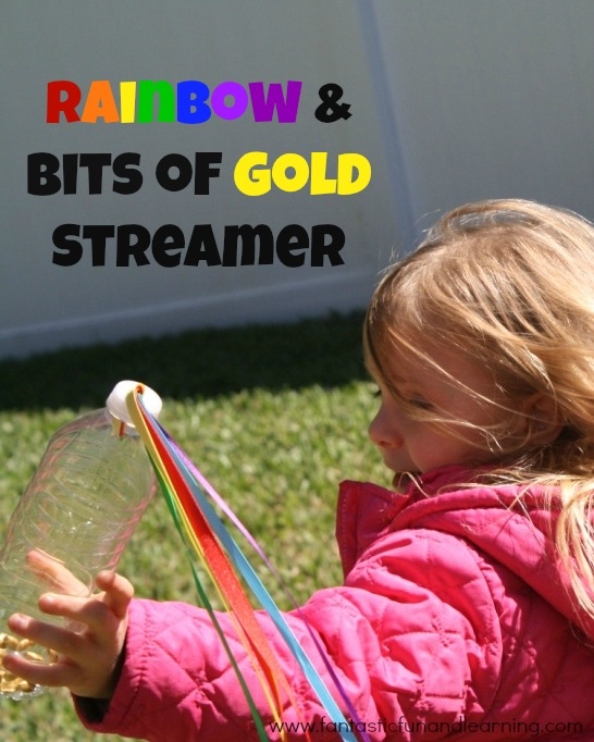 Rainbow and Bits of Gold Streamer Craft for Kids