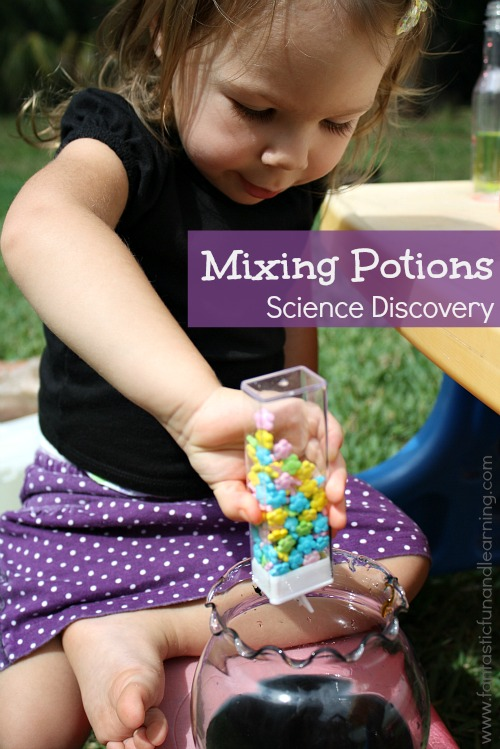 Little Wizards at Work: Mixing Potions Invitation to Explore