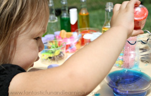 little wizards at work mixing potions invitation to explore
