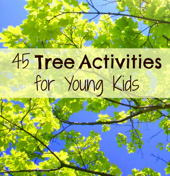 Tree Activities for Kids-Hands-on ways to learn about trees for kids. Includes tree science activities, tree crafts, tree art ideas, and more for your tree theme.