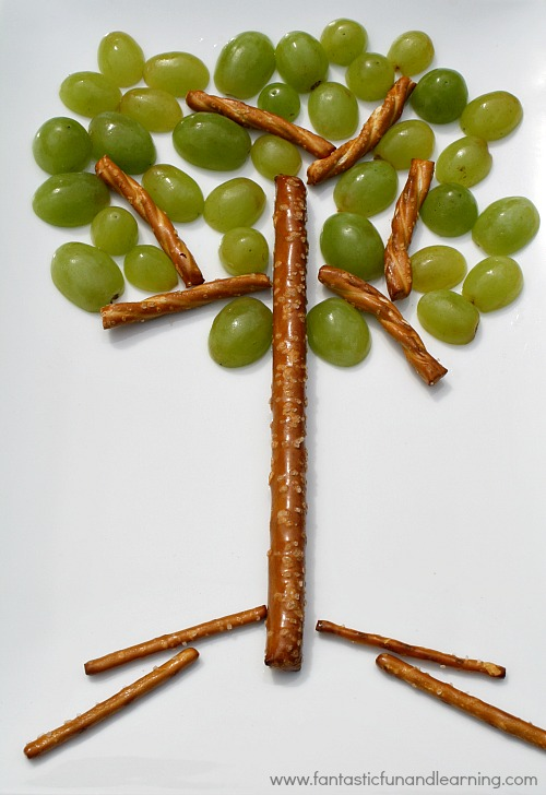Create A Healthy Tree Snack That Is Sure To Be Hit With Some Pretzel Sticks And G