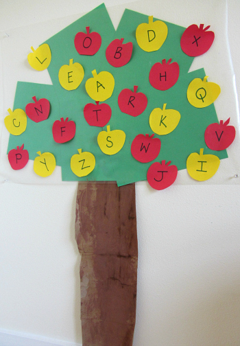 Alphabet Apple Tree Letter Activity No Time For Flashcards