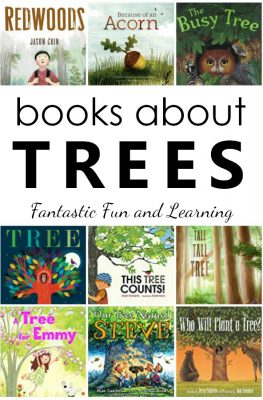 Books about Trees for Kids. Fiction and nonfiction tree books for preschool and kindergarten #booklist #kidlit #preschool #kindergarten