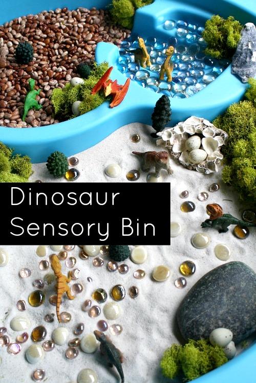 Dinosaur-sensory-bin