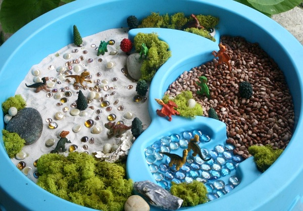 Dinosaur Sensory Tub for Kids