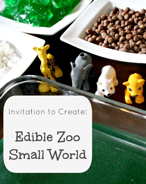Edible Zoo Small World and Sensory Play
