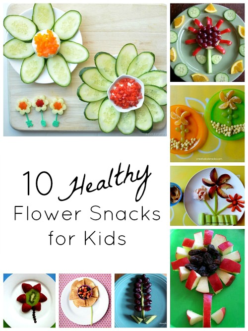 Let Kids Be Food Artists As They Create Some Healthy Flower Snacks Of Their Own This Would Perfect For Spring A Garden Or Theme