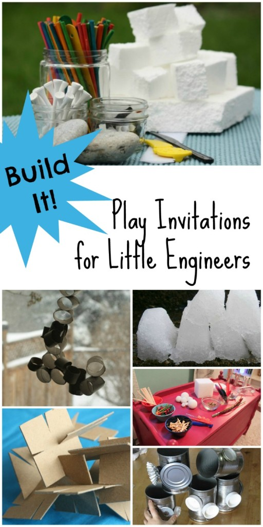 Building Activities for Kids...6 Invitations for Kids to Create. Perfect for Little Engineers!