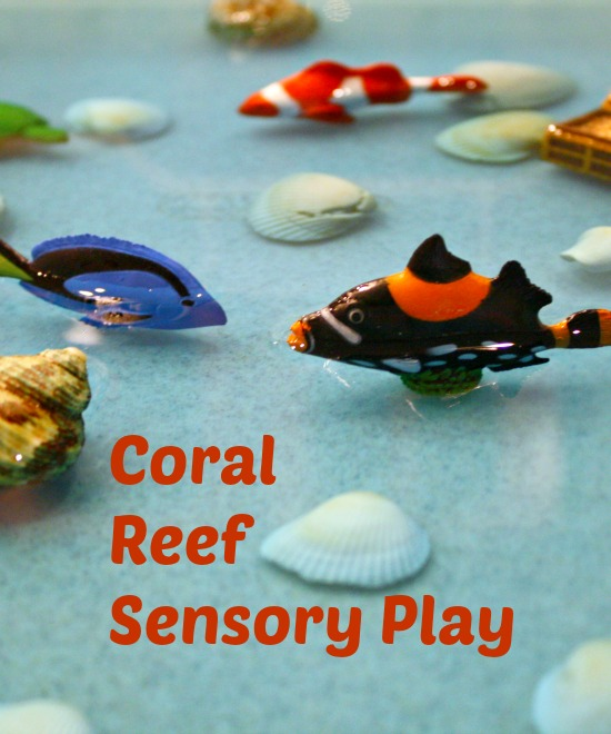 Coral Reef Sensory Play-simple sensory bin perfect for toddlers and preschoolers