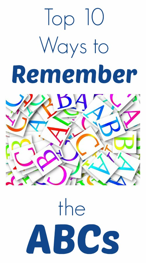 Top 10 Ways To Remember The ABCs Fun For Kids Practice Alphabet