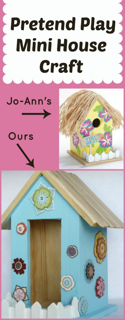Pretend Play House Craft...perfect for fairies, dolls, and other play figures. #summerofjoann