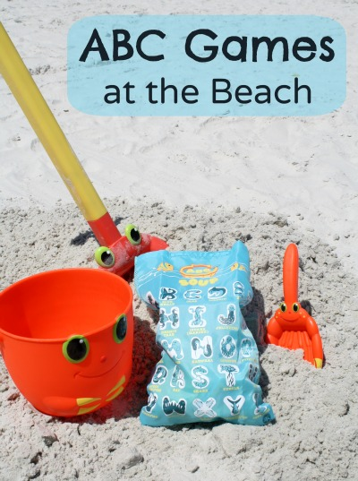 ABC Games at the Beach-learning at the beach or in the sandbox