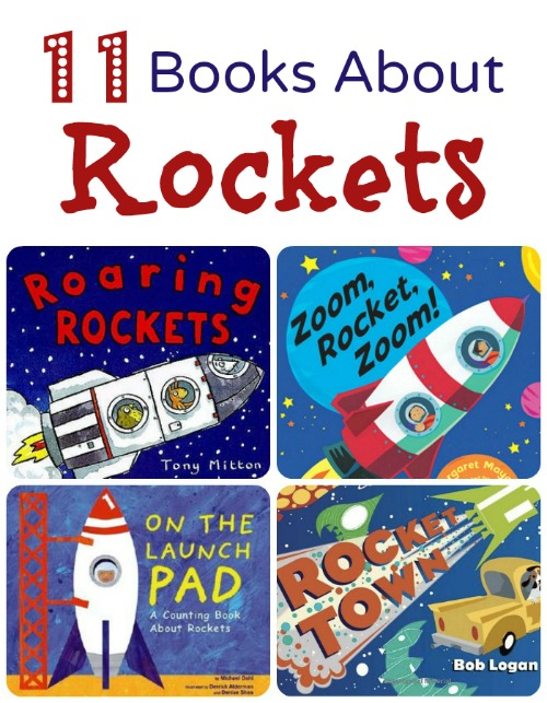 Books About Rockets. Fiction and nonfiction rocket books for preschool space theme #preschool #booklist #spacetheme