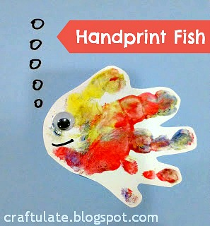 Craftulate Handprint Fish